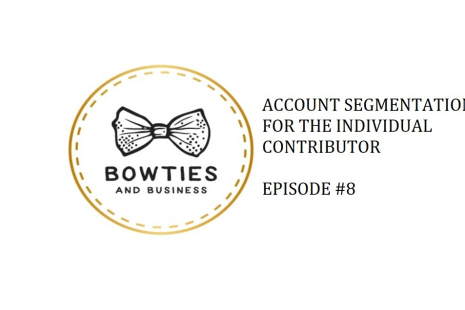 Account Segmentation for the Individual COntributor Episode 8 of Bow Ties and Business