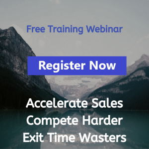 Free Sales Coaching Training Webinar Register Now - Accelerate Sales, Compete Harder, Exit Time Waters