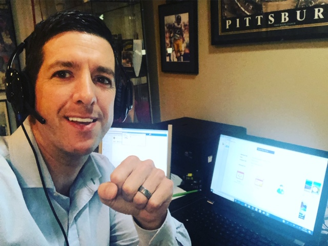 Dominick Domasky the founder of Motivation Champs hard at work