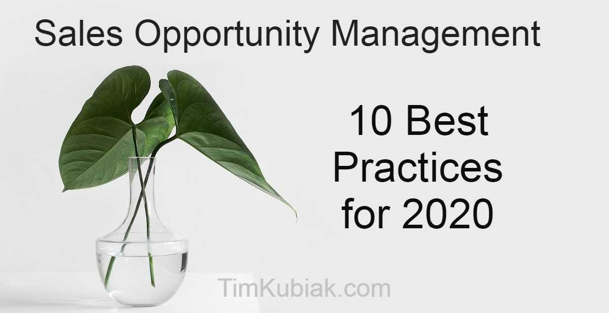 Sales Opportunity Management 10 Best Practices for 2020 v2
